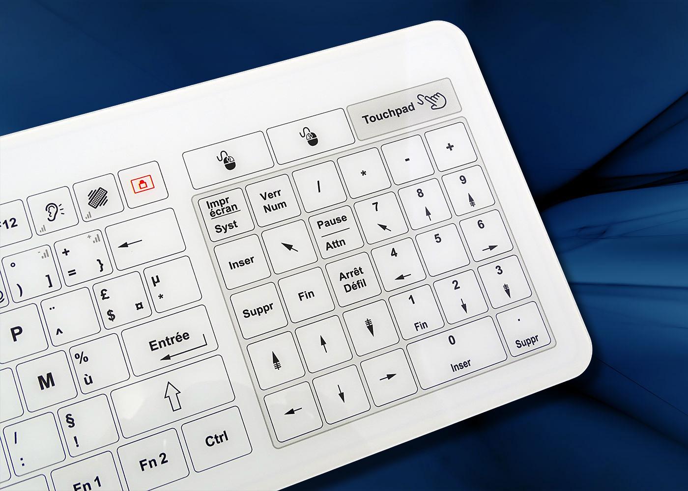 B45 clavier tactile filaire avec touchpad – pavé numérique touchpad