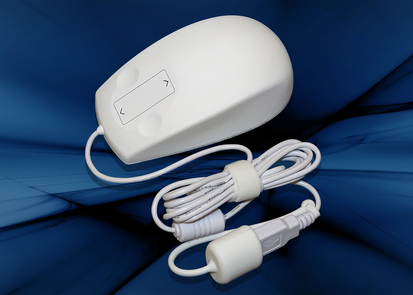 Souris médicale ergonomique IP68 avec molette tactile – Filaire