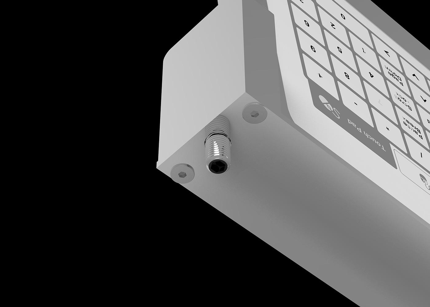 Bastron® B96 – Clavier tactile en tablette inox rabattable – Passe-fil