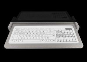 Bastron® B96 - Clavier tactile en tablette inox rabattable