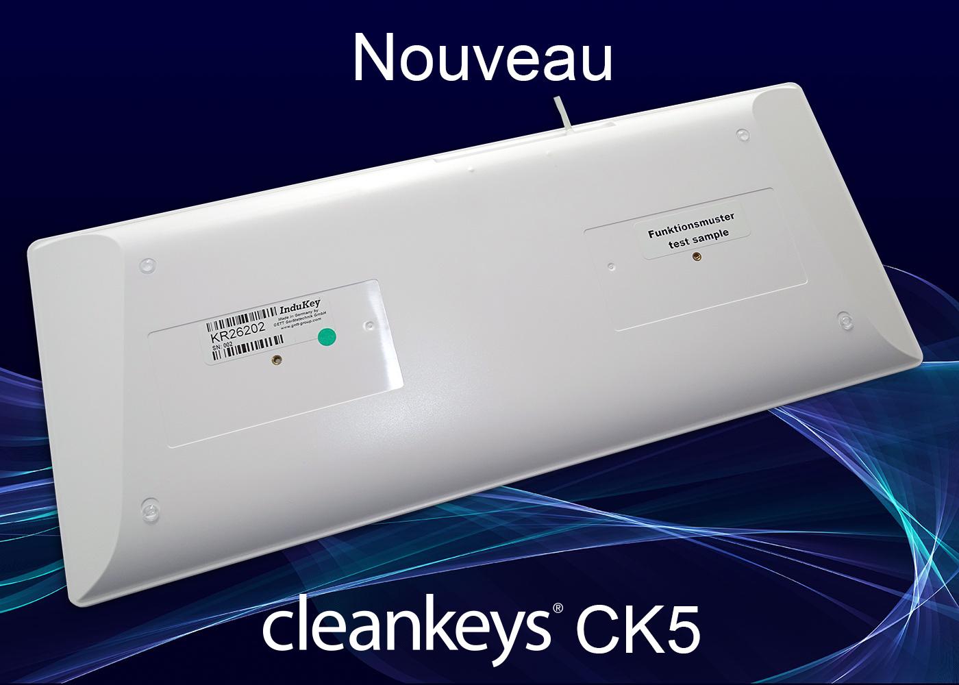 Clavier cleankeys®CK5 filaire – Vue dessous