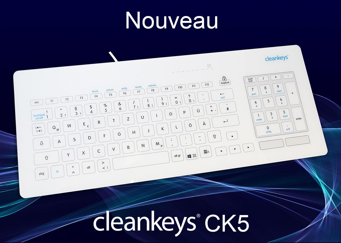 Clavier cleankeys®CK5 filaire – Esthétique et compact