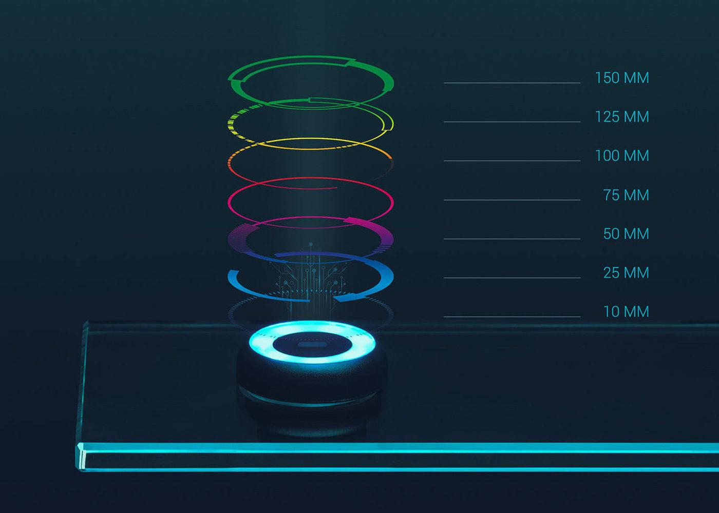 Bouton optique lumineux – Seuils réglables
